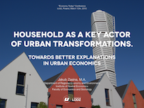 Household as a key actor of urban transformations. Towards better explanations in urban economics